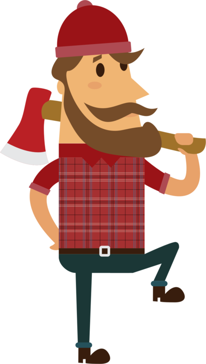 Fur vector lumberjack. Computer icons chainsaw wood