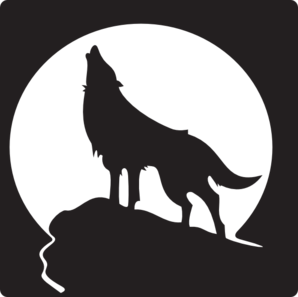 Fur vector scary wolf. Howling at the moon