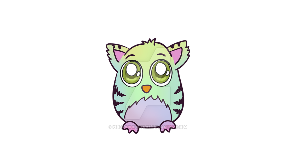 Furby transparent coco. For print by poccnnindustries