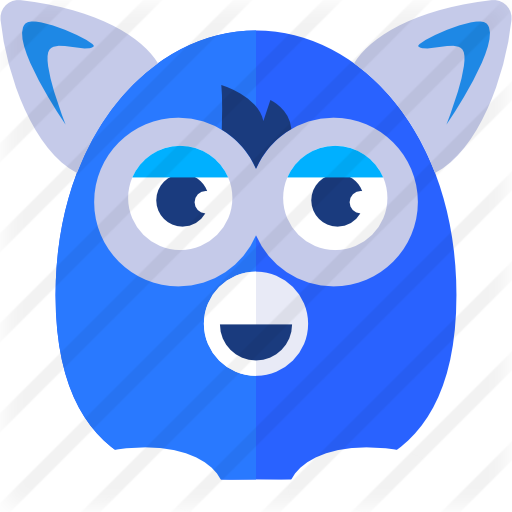 Furby transparent blue eyed. Free gaming icons icon