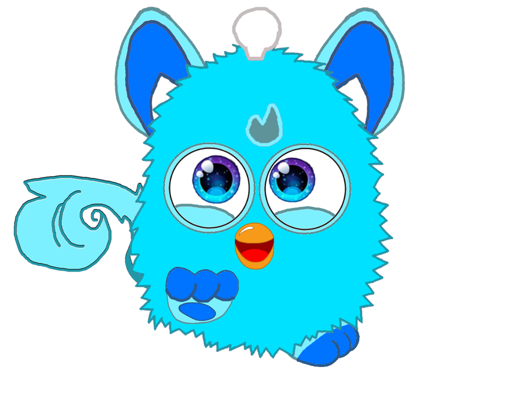Furby transparent blue eyed. Connect my friend by