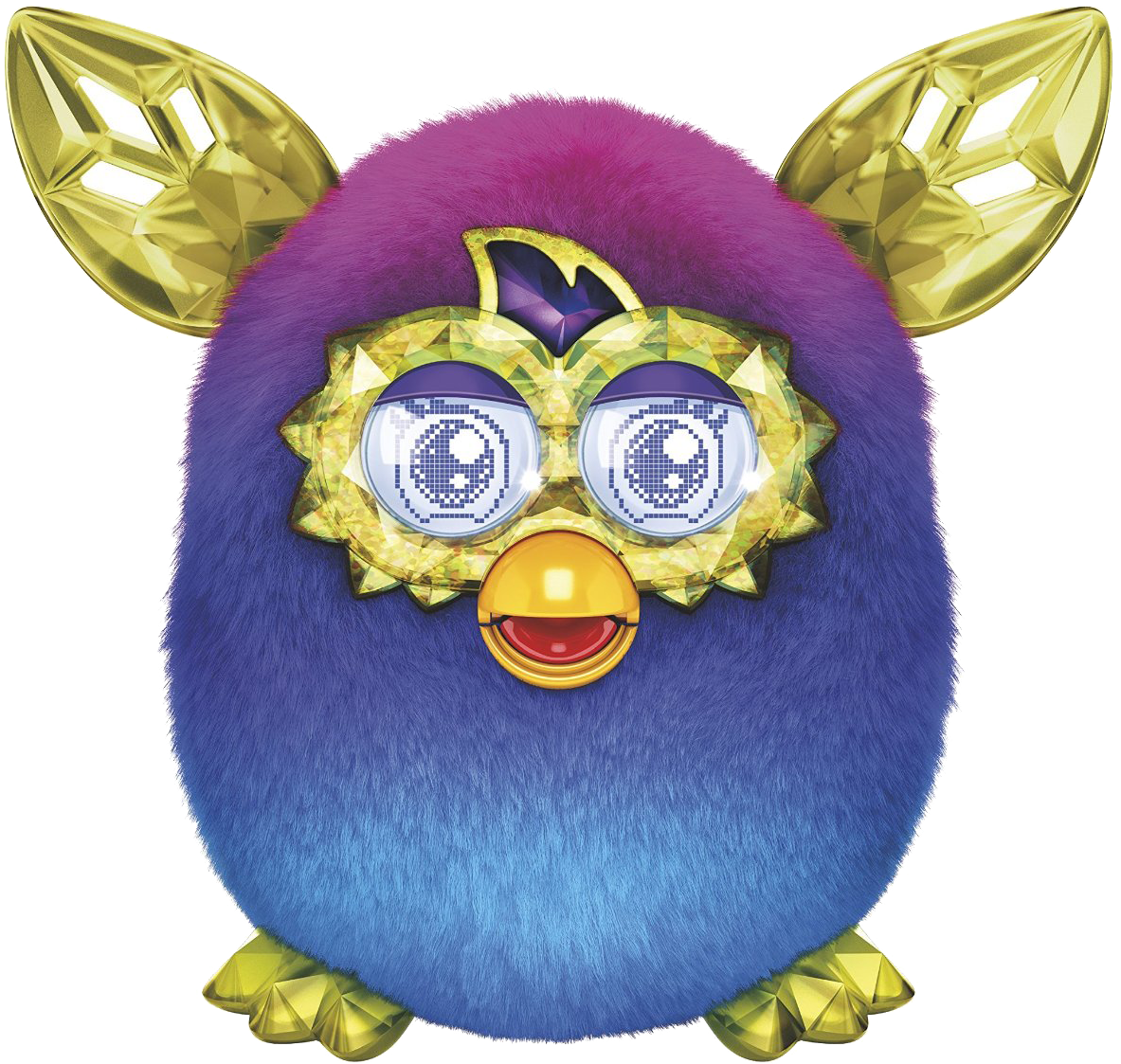 Furby transparent dark blue. Pink crystal boom no