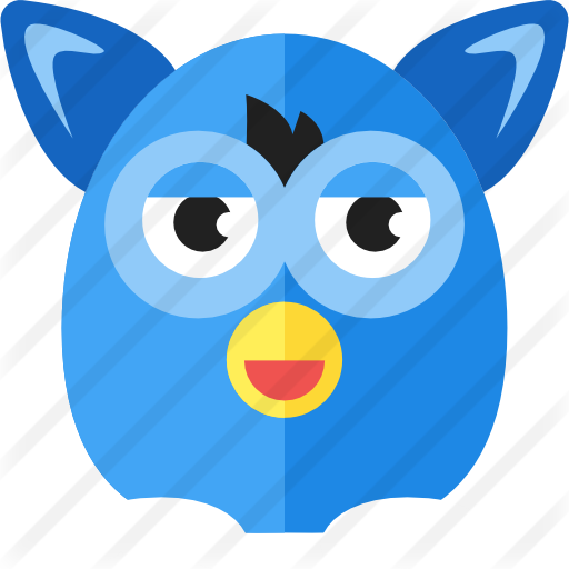 Furby transparent dark blue. Free gaming icons
