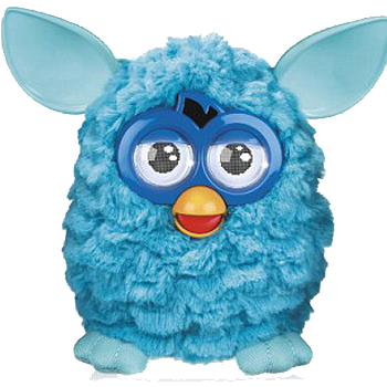 Furby transparent dark blue. Image