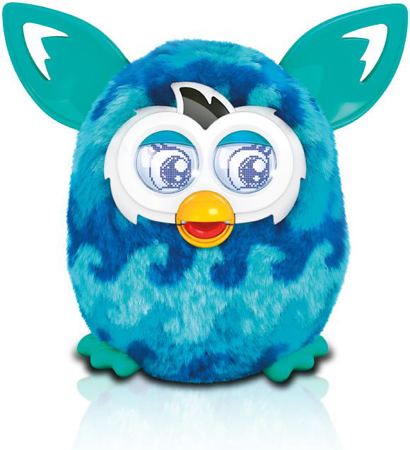 Furby transparent dark blue. Was a spy