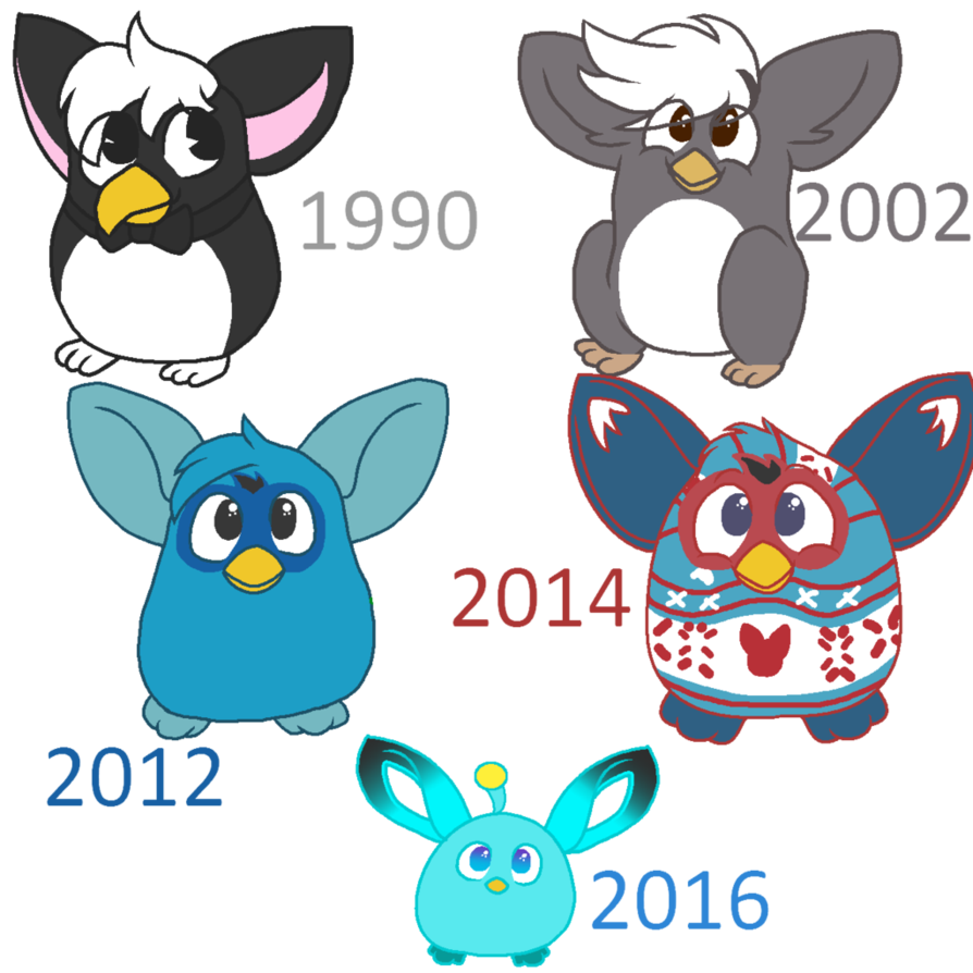 Furby transparent evolution. Of furbies by toebeanking