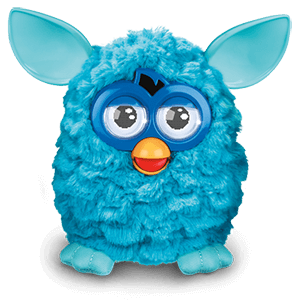 furby transparent turquoise