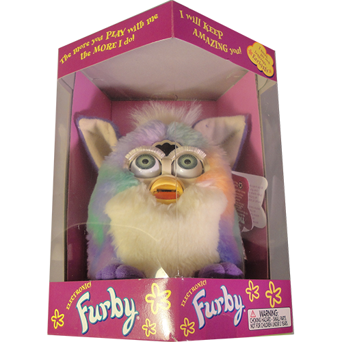 Furby transparent fluffy. Multiple colors with pink