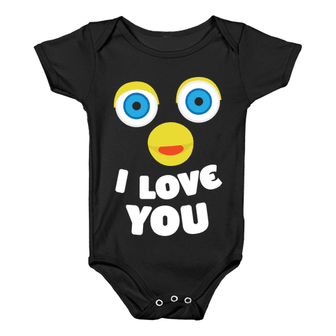 Furby transparent human. Baby onesies lookhuman loves