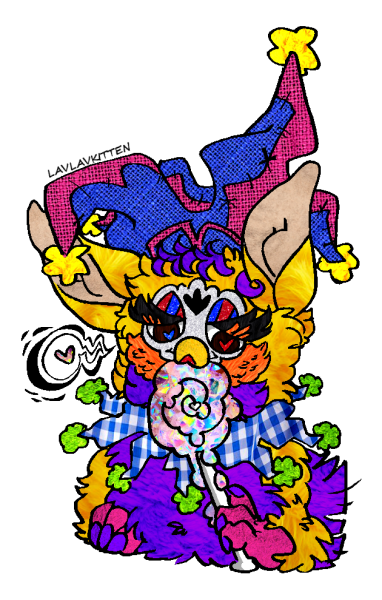Furby transparent jester. Tumblr a glorious picture