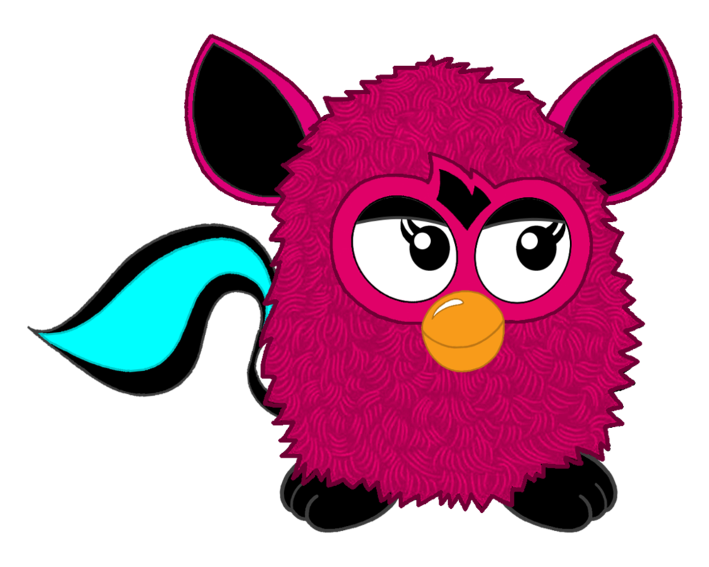 Furby transparent lizzie. S new look by