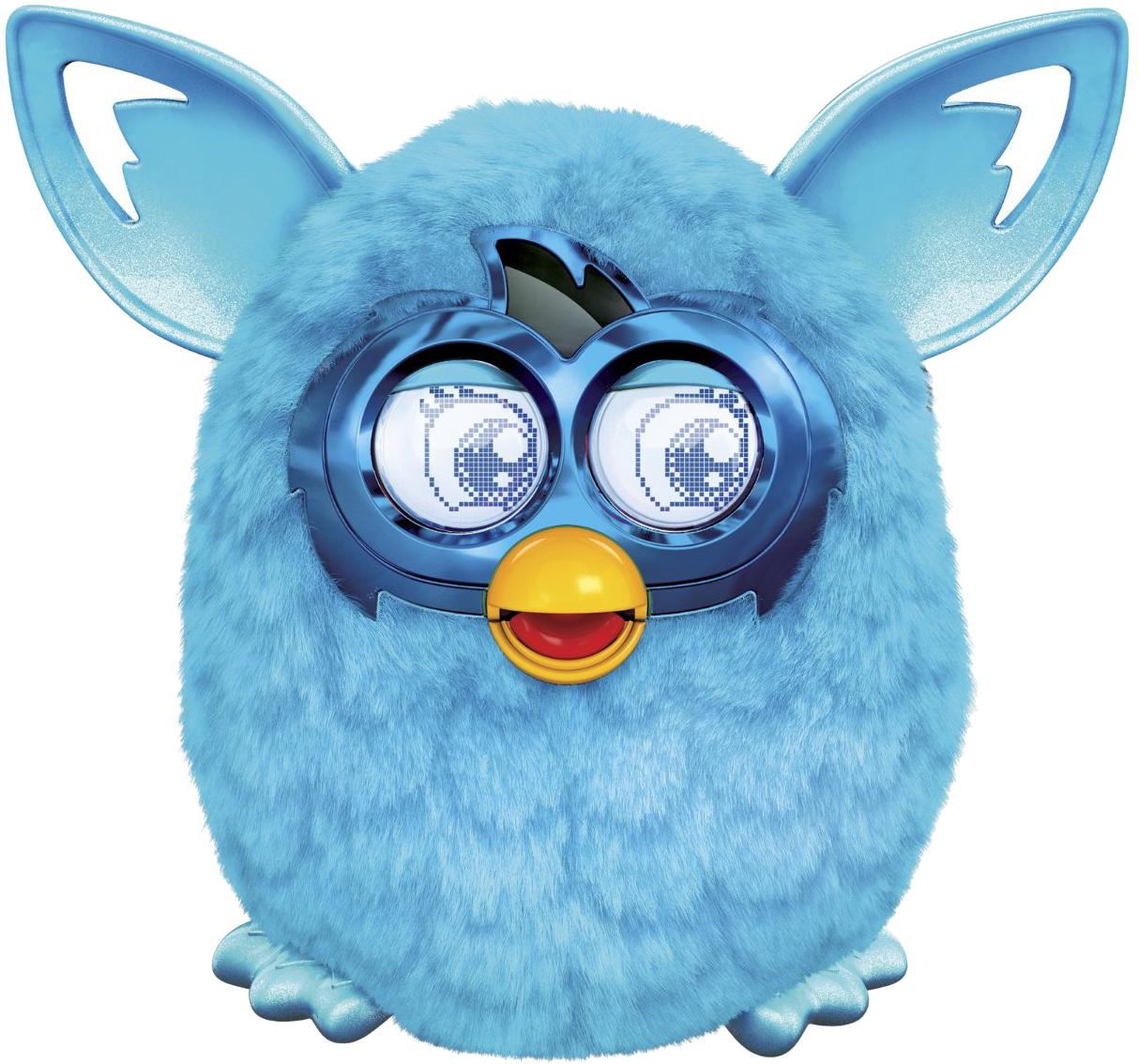 Furby transparent multi colored. Teal no bg png