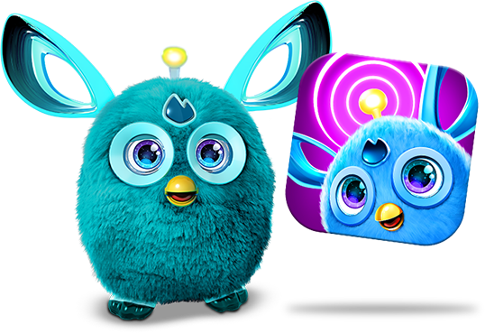 Furby transparent multi colored. Connect toy app learn