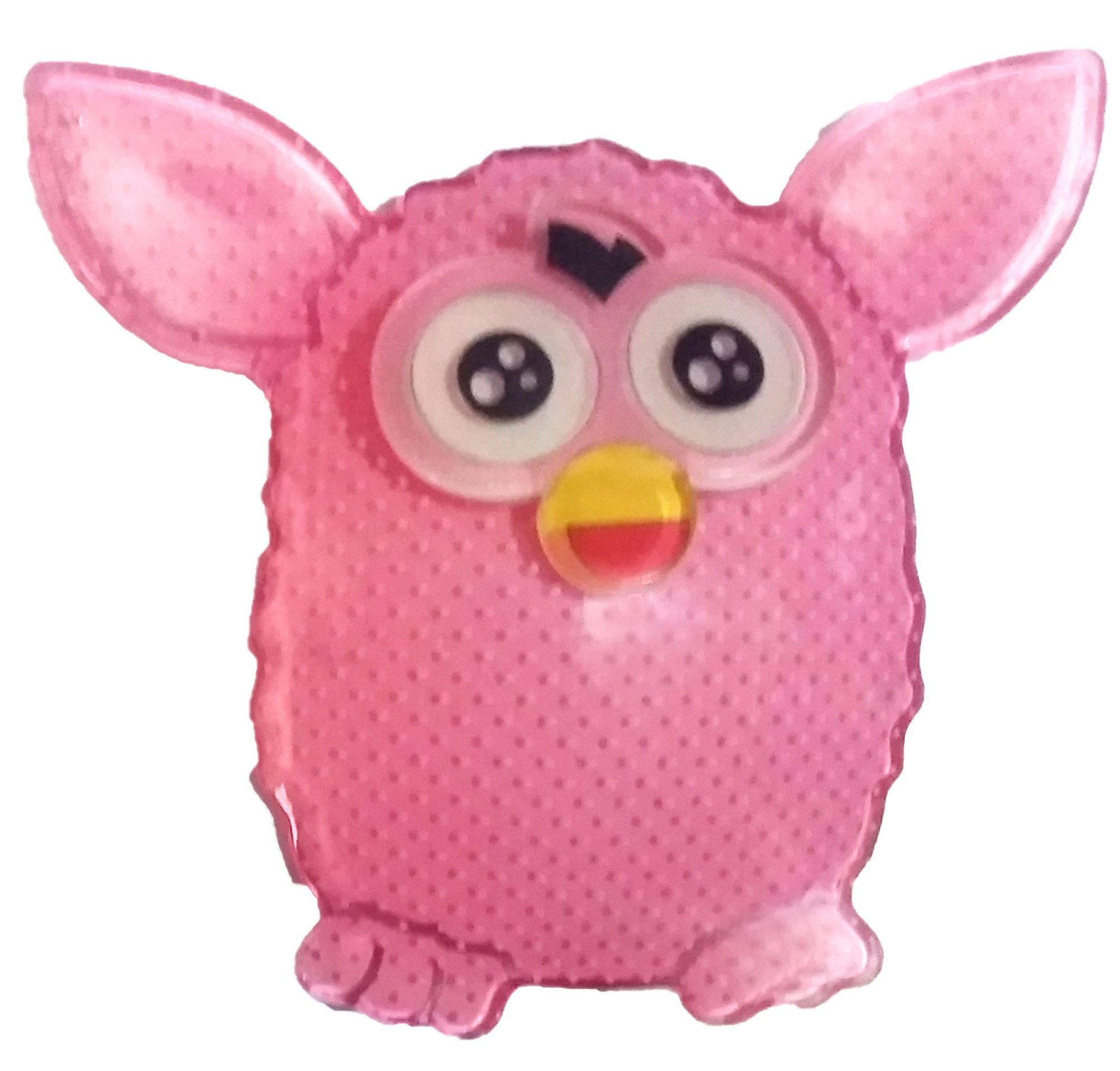 Furby transparent pastel. Pink hair clip my