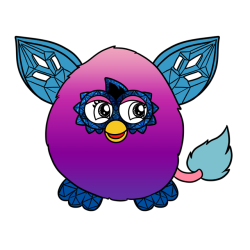 Furby transparent 2.0. Crystal tumblr boom and