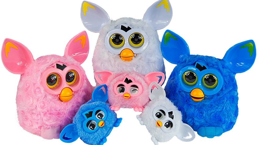 Furby transparent pastel. Fake pixy and furblings