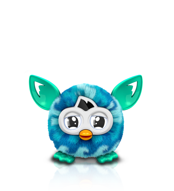 Furby transparent dark blue. Boom toys interactive furbies