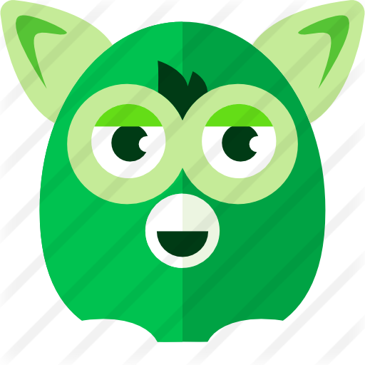 Furby transparent svg. Free gaming icons