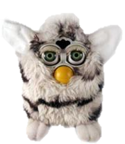 furby transparent zebra