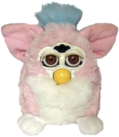 furby transparent fluffy