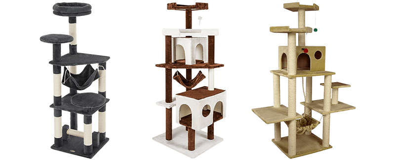 Furhaven tiger tough cat tree house furniture for cats and kittens png. Best trees large top