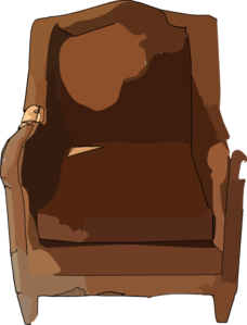 Furniture clipart. Leather chair clip art