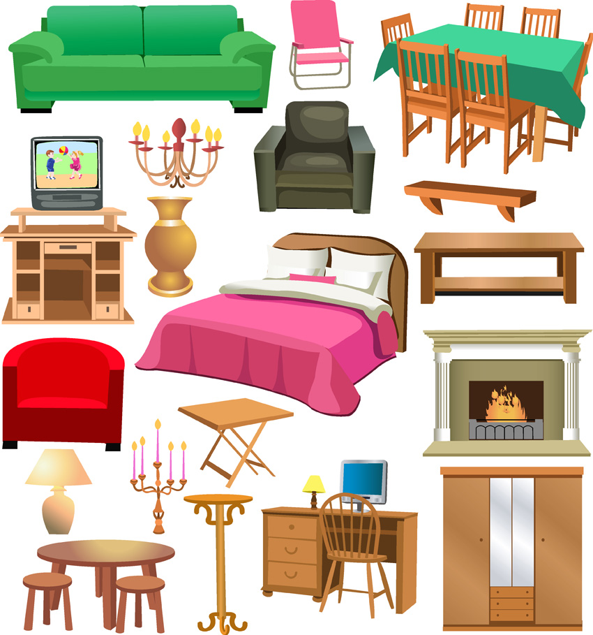 Center new home decorating. Furniture clipart jpg library download