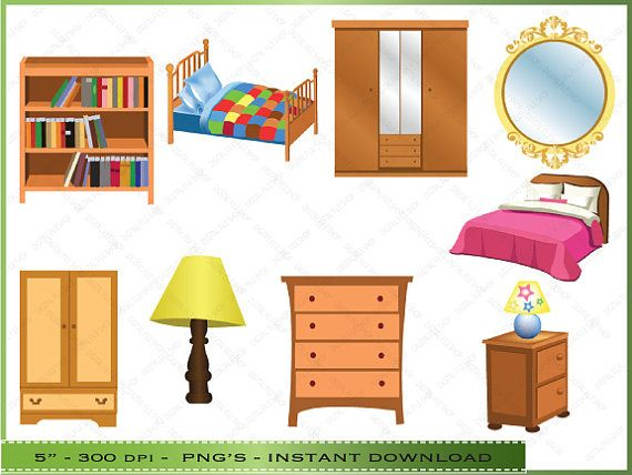 Furniture clipart bedrooom. Clip art of bedroom