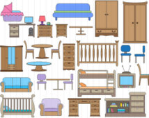 Furniture clipart bedrooom. Kids bedroom