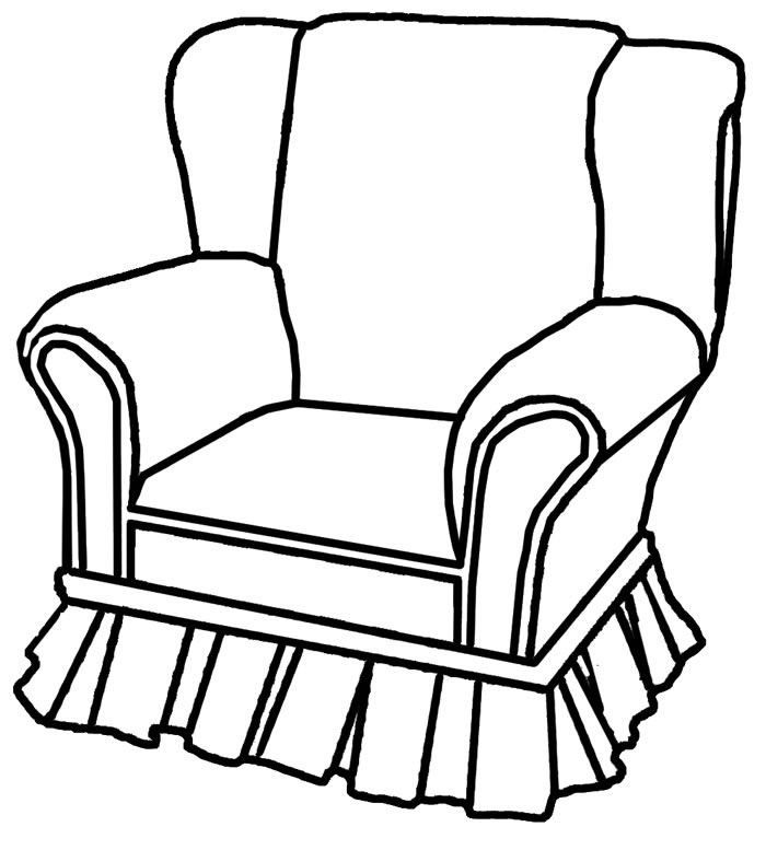 Furniture clipart comfy chair. Armchair drawing at getdrawings