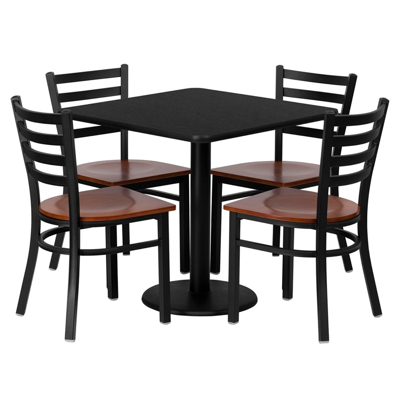 Furniture clipart dinner table. Beautiful cafe and chairs