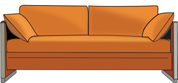 transparent couch chair cartoon