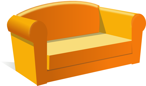 Lazy clipart sofa. Clip art at clker