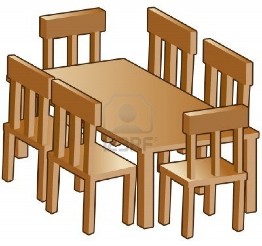 Furniture clipart wooden furniture. Dining room inside clip