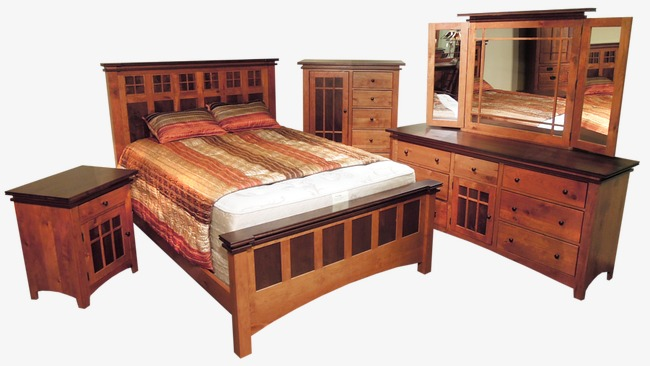 Furniture clipart wooden furniture. Combination bed cabinet wardrobe