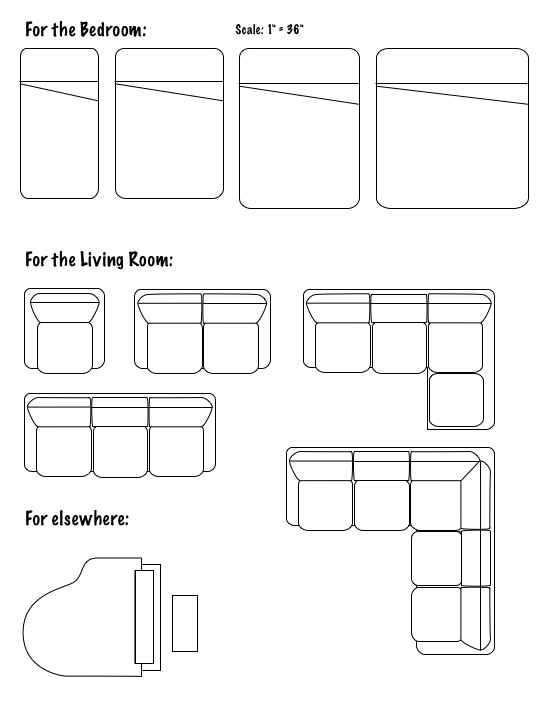 Furniture floor png. Floorplans graffletopia