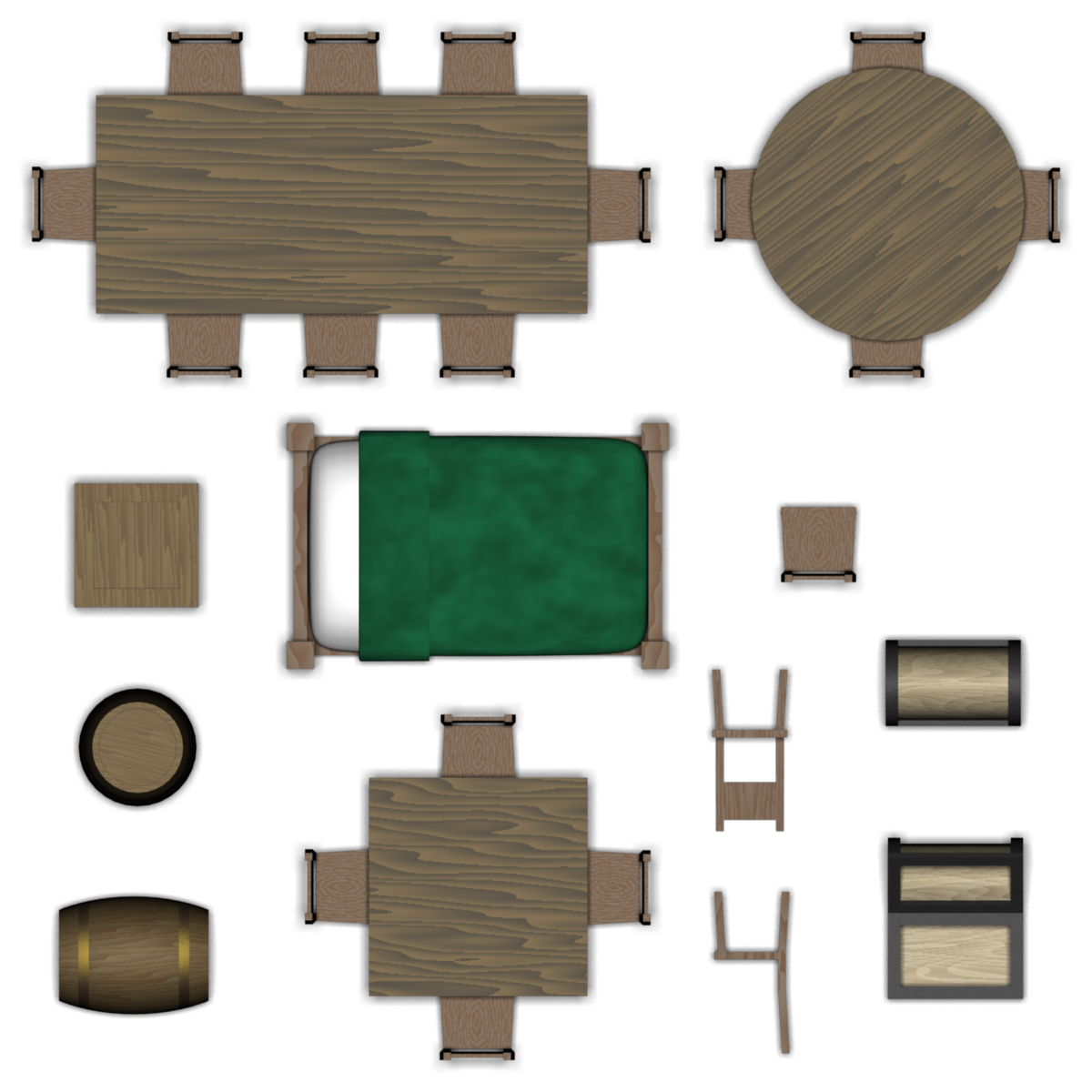 Furniture floor png. Dungeon set by pfunked