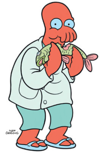 futurama transparent crab