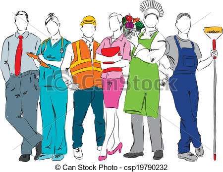 Career clipart. Professional illustrations and clip vector black and white library