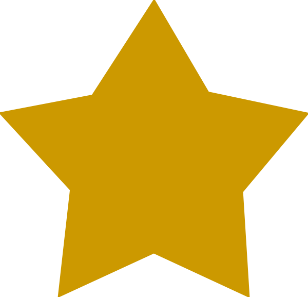 Vector award gold. Free star cliparts transparent