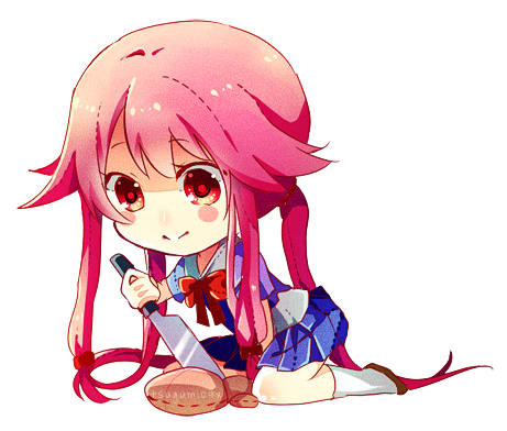 Future Diary Yuno Transparent & PNG Clipart Free Download - YA-webdesign