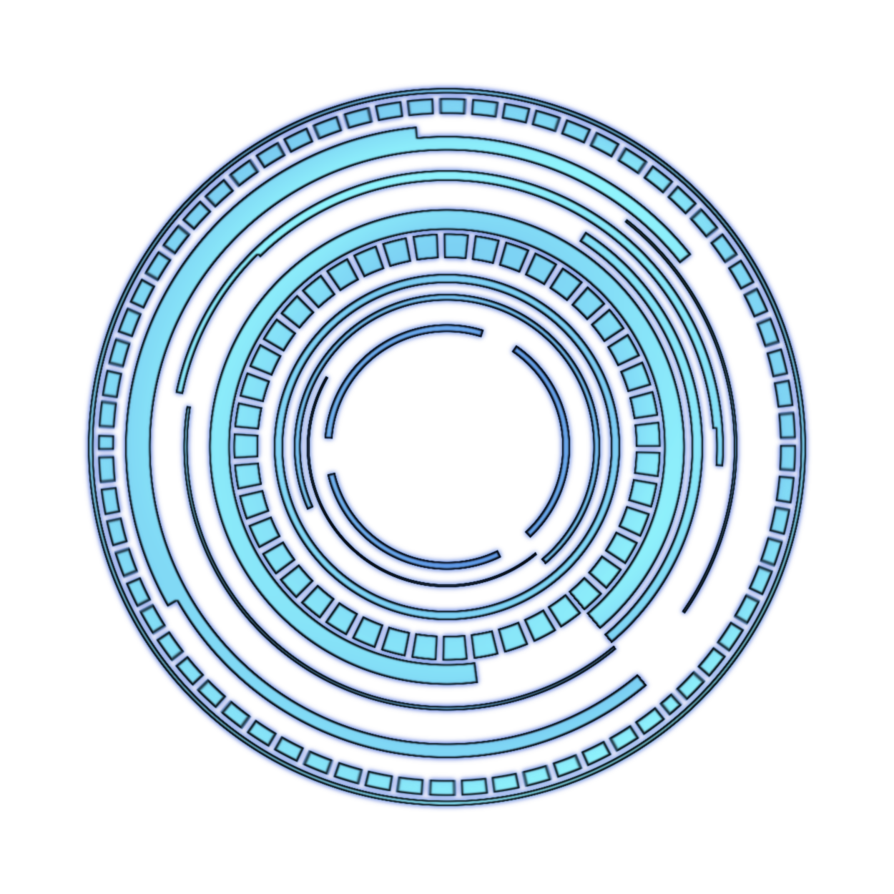 Future hud png. Blue transparent circle by