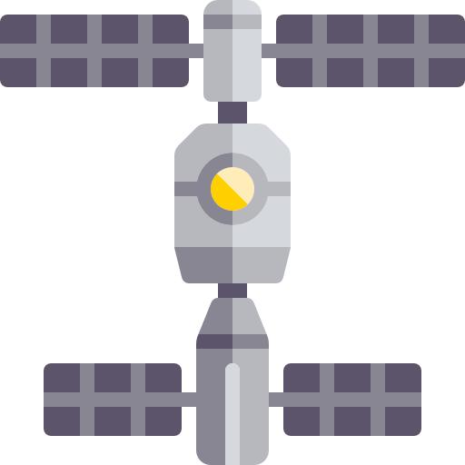 Future vector space colony. Station icons free download