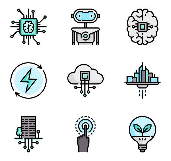 Future vector technology. Computer icon packs