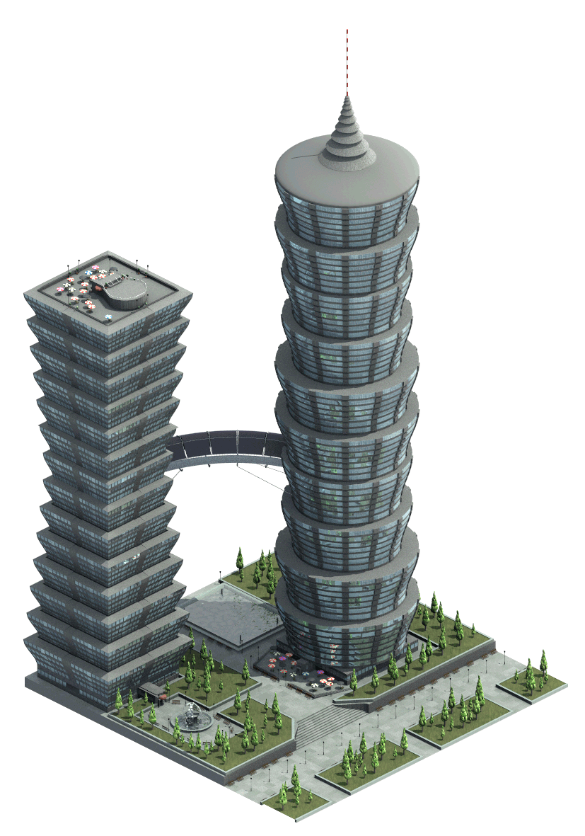 Futuristic building png. A plan for new