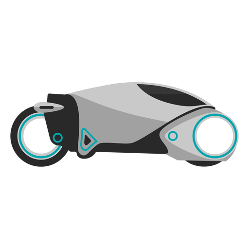 Futuristic vector profile. Motorcycle icon transparent png