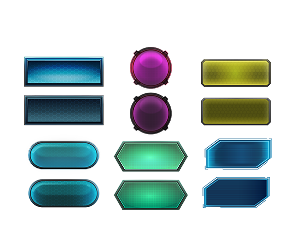 Futuristic buttons png. Royalty free gui game