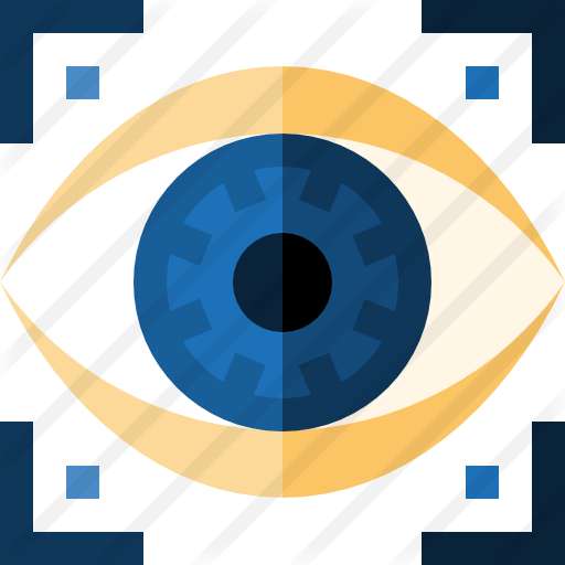 Futuristic vector eye. Scan free computer icons