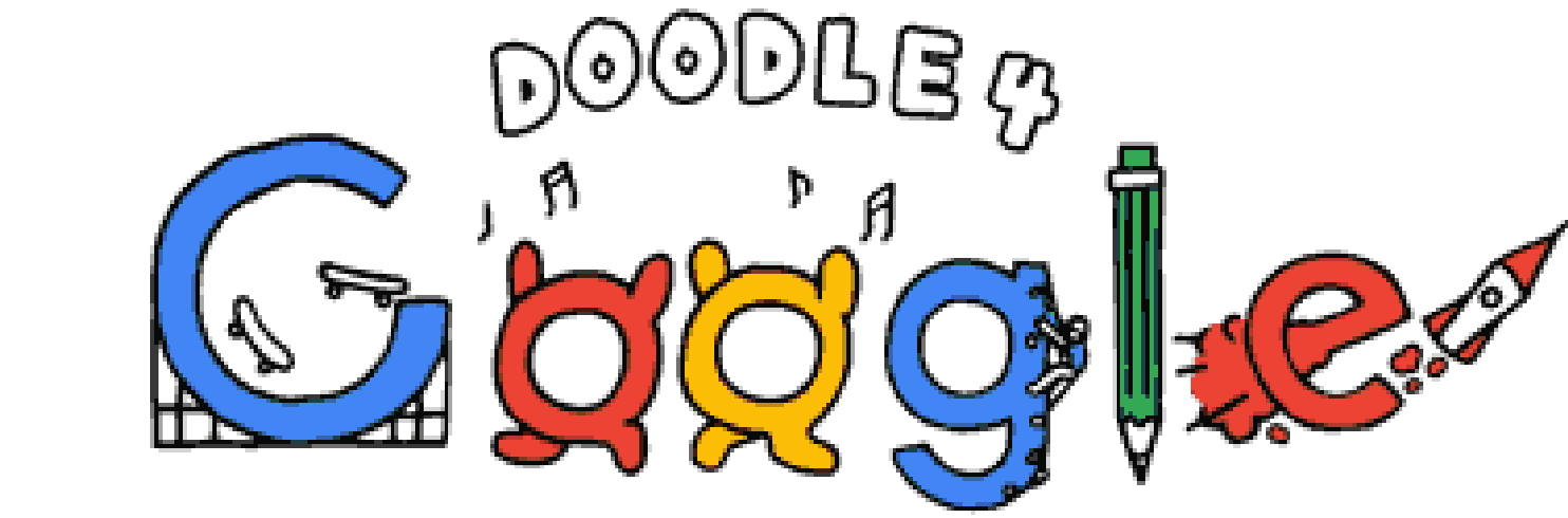 G drawing doodle. The google student art
