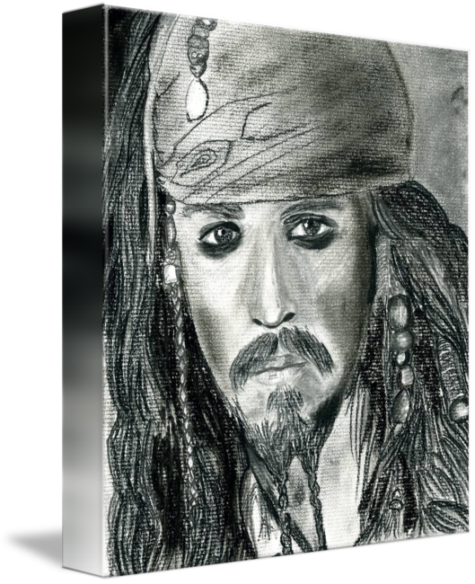 Portraits drawing nature. Johnny depp as jack